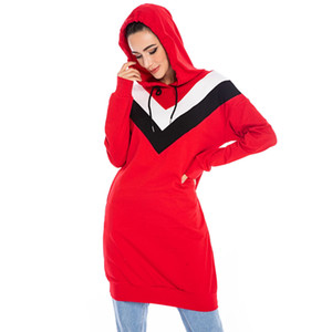 CM6194 New Muslim Tracksuit Top Women Islamic dress Sweatshirt Muslim Sport Trainning Exercise Sweaters Conservative Hooded Coat Hoodie