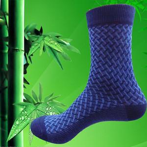 10pcs = 5 Paare Qualitäts-Bambusfaser-Socken Herren 'S Elite Beiläufiges Geschäfts-Socken tragen Nicht Smelly natürliche antibakteriellen Mo Boxed Besseren
