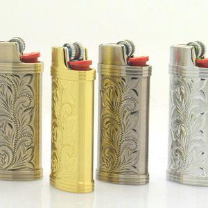 Nuovi Portable Porta Accendini cassa dell'armatura della copertura del manicotto di Shell Innovative Design Pattern Custodia pelle per il fumo di sigaretta strumento Hot Cake DHL