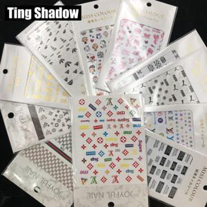Мода 25pcs марка ногтей наклейки самоклеющиеся наклейки для ногтей Таблички советы Маникюр ногтей наклейки украшения