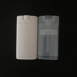 15ml Пустые пластиковые овальные Дезодорант Контейнеры Lip Balm Трубы с крышкой Крышки для губной помады, карандаш, помады, домашний бальзам для губ, BPA Free