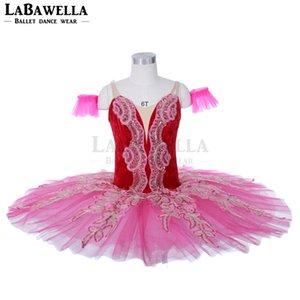 Red Rose La Esmeralda Nutcracker Ballet Tutu Crianças Mulheres Professional Tutu, Figurino, Pancake JY023B