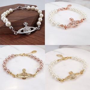 satellitare Donne strass Bracciale perline perla regalo del braccialetto per Accessori Amore Girlfriend gioielli di moda di alta qualità