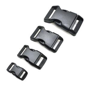 100pcs lot Piastic Side Release Buckle Curved 550 Paracord Bracelet Dog Collar Backpack Strap Webbing 10mm 15mm 20mm 25mm