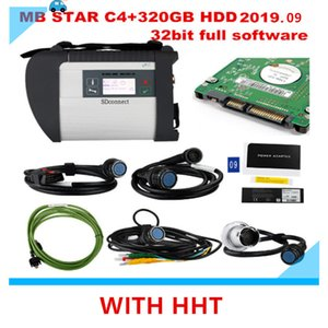 2019.09 Best quality MB STAR C4 with HHT last FULL software 320GB HDD MB SD Connect Compact 4 Diagnostic Tool DHL Free Shipping