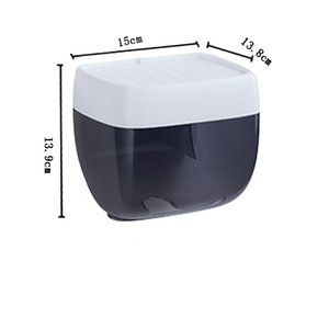 Hot Wall-mounted Floating Perforation-free Punch-free Paper Towel Box Tissue Cover Napkin Holder Houseware Toilet Tissue Box