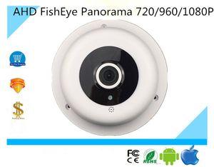Luckertech AHD / XVI Câmera Dome FishEye Panorama vista de 180 graus 720P 1080N 1920 * 1080 UTC Coaxial Controle CCTV Segurança