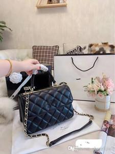 Bolsa de luxo Mensageiro Vintage de couro genuíno Handbag Mulheres 2020 nova cadeia ombro inclinado Balde sacos de mulher Lambskin Ling