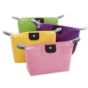 Kozmetik Çantası Eski Cobbler Koleji Kız Makyaj Çantası Naylon Kumaş Renk Yıkama Çanta Şık Fermuar Küçük Çanta EEA1300--7
