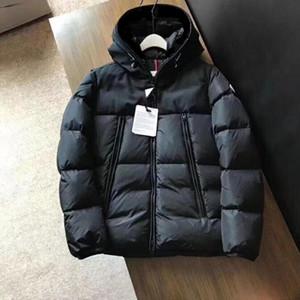 Vestes pour hommes Designer vers le bas épais chaud capuche Rib lettres manches broderie Veste d'hiver Fashion Casual Down Jacket en Europe Taille