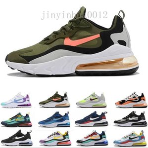 react mens running shoes Bleached Coral Dusk Purple Grey and Orange In My Feels Bauhaus triple black men women Outdoor sports sneakers YPD55