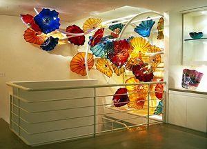 Tiffany Luxury выдувное стекло Подвесной плиты Wall Art Decor муранского стекла Тарелка для гостиной Столовая
