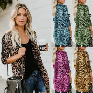 Queda 2020 Brasão Moda Faux Fur Mulheres Long V-neck Sexy Slim Fit Breasted leopardo Clube Coats Mulher Fur Tops roupas de inverno