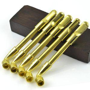 Clássico bronze cor de cobre fumar tubulação hastes estragado tabaco filtro de mão tubulação de mão cigarro filtro ferramentas de limpeza acessórios