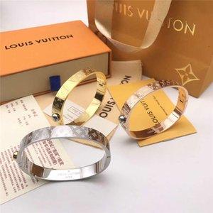 Hochwertiges Niet-Armband Luxus Gold Silber Schmuck Lv geschnitzte Armbänder für Frauen Männer dekorative Muster Armband LOUIS VUITTON