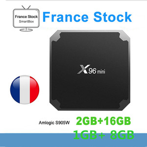 Stok Fransa Orijinal X96 MİNİ 2GB 16GB Amlogic S905W Android 7.1 TV Box 4K WiFi Arapça Smart TV Box