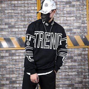 2019 Hiphop Lettre en vrac Imprimé Hip-Hop Homme À La Mode Homme Cols Garde Vêtements sur INS Street sweat mens designer sweat à capuche