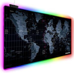 RGB extendida del juego alfombrilla de ratón, Extra Grande de ratón del juego de la estera por Gamer, Oficina impermeable para PC Ordenador RGB del ratón del teclado del MacBook