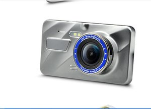 2020 new car dvr 4 inch metal A10 touch screen dual lens dash cam vehicle HD night vision 1080p reversing image Car DVRs