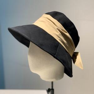 Diseñador de la marca de lujo de algodón para mujer del sombrero del cubo plegable Para Caps Pescador Playa parasol plegable Venta Señora Bowler Bowler gorra Gorra