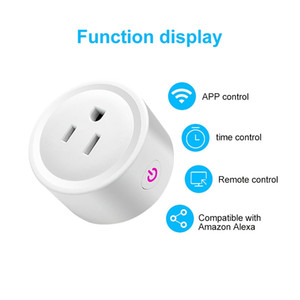 Mini Smart Switch de sortie US / EU / UK Plug standard WiFi sans fil voix à distance Timing gradables minuterie Compatible avec Alexa / Google Echo