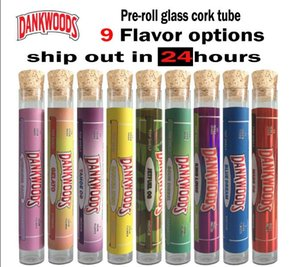 18 * 120mm Bearwoods Düz cam mantar şişe SERBEST OEM çıkartmaları DANKDOODS Backwoodsl Rulo paketleme l dahil
