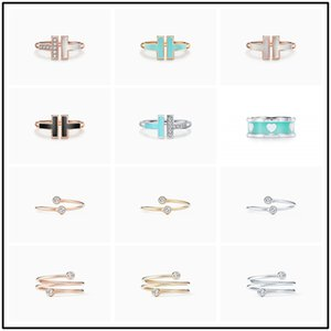 T home 1;1 925 sterling silver T Ring series fashion accessories