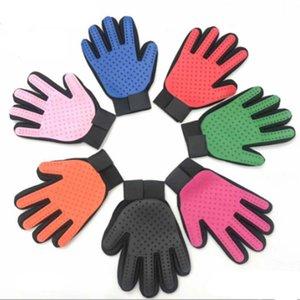 Уход за волосами для домашних животных Перчатка Нежная Уход за домашними животными Перчатка-щетка Массажная рукавица с усовершенствованным дизайном с пятью пальцами Чистая щетка для ванны для собак Кошки