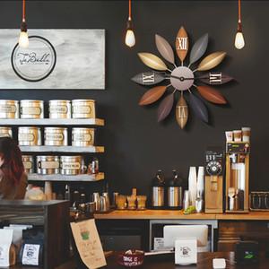 Orologio americano retrò Iron Art Silent Creative Living Room Clock Nordic Modern European Simple Watch Home Decoration