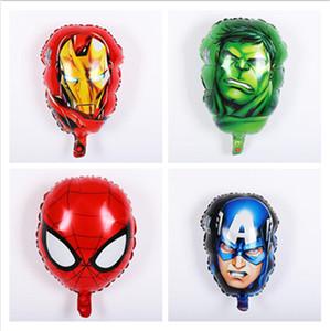 Les ballons de fleuret Avengers super-héros homme hulk Captain America ironman ballons d'hélium spiderman enfants jouets classiques alimentation de fête d'anniversaire