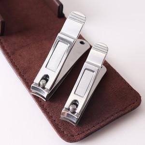 2pcs en acier inoxydable gros petits orteils coupe-ongles dans une poche pour épais ongles art trimmer cutter ciseaux cuticules manucure outils de soins de beauté