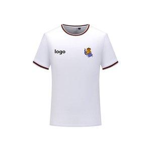 Real Sociedad gli uomini della T-shirt calcio moda Maglie a maniche corte uomini della T-shirt camicia di polo di calcio di sport di colore solido T-shirt da uomo in cotone