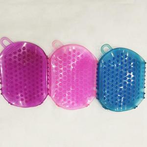 Luvas de banho Esfoliação Duche Banheira escova para limpeza do corpo de silicone Esfoliante escova Scrubber Bath Scrub Glove Spa FFA3343C ferramenta de banho