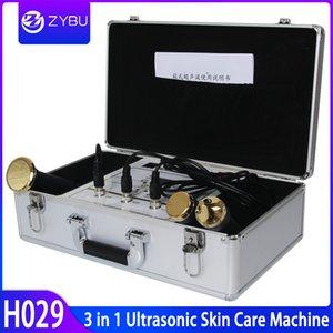 Ultrasonik Yüz Bakımı Cilt Kaldırma Ultrasonik Liposuction Makinesi 3 Sonda İçin Gözler Yüz Vücut 1MHz 3Mhz Ultrason Güzellik Ekipmanları ile
