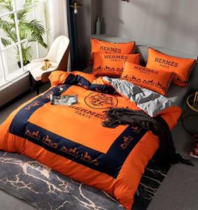 Branded Baumwolle Bettwäsche-Sets Klassische Warm Home Textile Schöne Bett Bettbezug Standard-Queen-Size-Bettbezug Kurz Bettwäsche