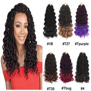 "Mtmei Haar 14"" 35Strands Göttin Senegalese Twist Crochet Haar Schwarz Braun Lila Welle Ombre flicht Haar-Verlängerungen Curly Ends"