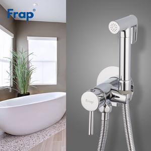 toptan Bide Musluk Banyo Bide Duş Seti Musluk Tuvalet Bide Müslüman Pirinç Duvar Boyama dokunun Soğuk ve Sıcak Mikser F7505-2 Monteli