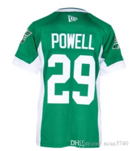 custom 2019 Men Saskatchewan Roughriders William Powell #29 real Full embroidery College Jersey or any name or number jersey