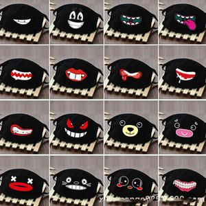 Cotone antipolvere Bocca della maschera di protezione del fumetto del Anime fortunato denti delle donne degli uomini a muffola, Viso, Bocca Maschere creativo nero Maschere LJJA3822
