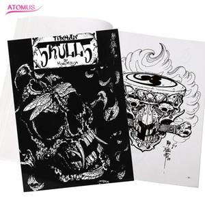 문신 액세서리 문신 디자인 두개골 책 전문 플래시 잡지 책 스케치 공급 아티스트 바디 아트