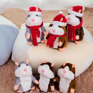 Talking Hamster мыши Pet Плюшевые куклы Speak Talking Sound Record Hamster Фаршированная игрушки Обучающие игрушки Рождество детям подарки 15см D6329
