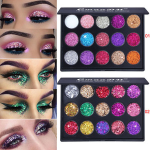 CmaaDu 15 colori Diamond Eyeshadow Luminous Shimmer Glitter Eye Shadow Highlight Powder Beauty Cosmetic Matte Makeup Palette
