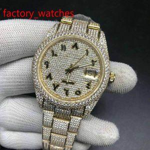 Больше алмазов высокое качество часы автоматические мужские корпус из нержавеющей стали желтого золота с арабскими цифрами роскошные блестящие новые поступления