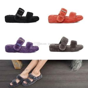 Women Designer Slides Gladiator Sandals Fur Slippers Slides Furry Sandale Fluff Yeah Indoor Flip Flops Fashion Luxury Designer Ladies