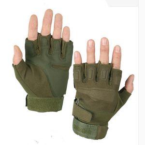 قفازات الرياضة في الهواء الطلق التكتيكية ميليتار رياضة الرجال القتال نصف قفازات الأصابع الجيش للياقة البدنية قفازات المضادة للانزلاق M / L / XL
