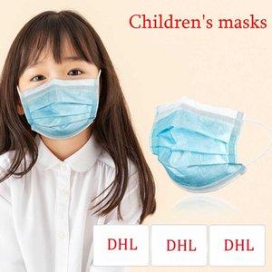 Auf Lager Kinder Einweg mascherine Gesicht Gesichtsmaske 3 Schichten Anti-Staub-Kinder Stil Mundmaske Kohlefilter Winddichtes Mund Muffel