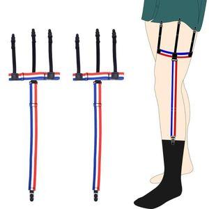 Camisas Deslizamento-Resistente Ajustável Permanece Camisas de Camisas Meias Gentleman Belt Suspensórios de Cor Sólida para Camisas Gentleman Leg Suspensórios