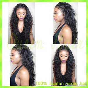 Top Quality Water Wavy Indian Silk Top Full Lace Wigs 100% Unprocessed Virgin Indian 4.5*5'' Silk Base Lace Front Human Hair Wigs