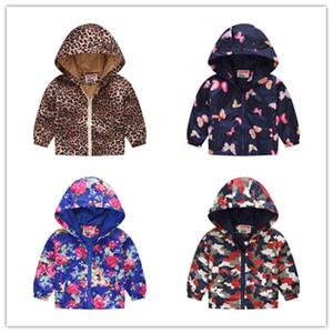 Застежка-молния с капюшоном пальто куртки Детские Tops 2020 Spring Детские куртки Мальчики мультфильм детской одежды осень младенца ВЕТРОЗАЩИТНЫЕ пальто Outwear D21803