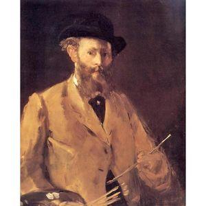 Dipinti a mano Edouard Manet artwork Autoritratto con una tavolozza Impressionismo dipinti artistici per la decorazione domestica